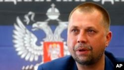 Alexander Borodai dalam konferensi pers di Donetsk, Ukraina Timur (Foto: dok).