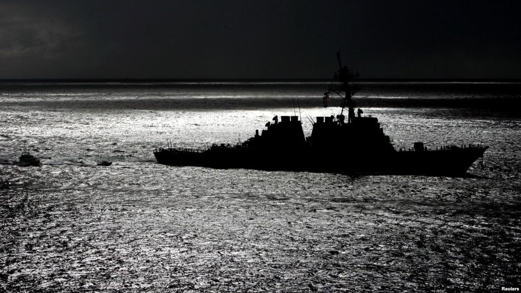 Tư liệu: Tàu khu trục có tên lửa dẫn đường của Hải quân Hoa Kỳ, USS Hopper, nhìn từ cửa biển tiến vào Cảng Sydney, Úc, ngày 24/1/2004. PBEAHUOEPDD