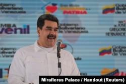 Venezuela's President Nicolas Maduro attends an event with supporters in Caracas, Venezuela, Nov. 13, 2018.