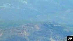 북한의 서해 해안포 동굴진지 (자료사진)
