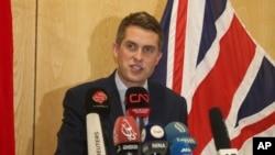 Bộ trưởng Quốc phòng Anh Gavin Williamson.