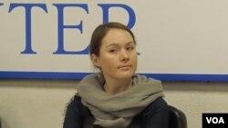 人权观察研究员格尔布诺娃(美国之音白桦拍摄)
