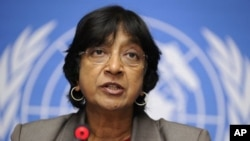 United Nations High Commissioner for Human Rights Navy Pillay (2011 file photo)