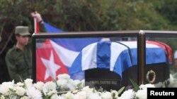 Preparasyon pou seremoni antèman Fidel Castro.