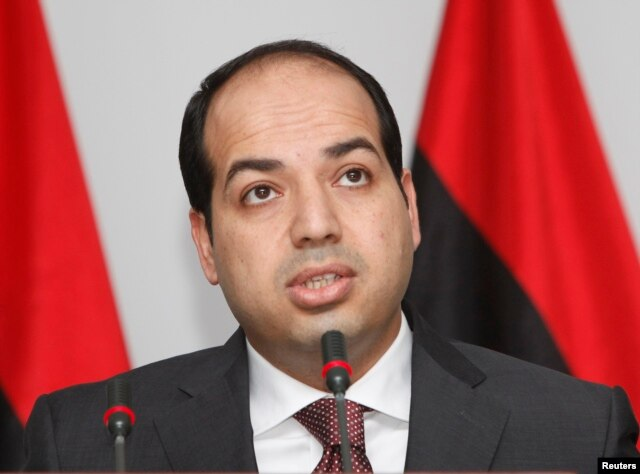 Libya's Supreme Court ruled the election of Prime Minister Ahmed Maiteeq unconstitutional on Monday. Maiteeq is shown at a news conference in Tripoli, Libya, June 7, 2014.