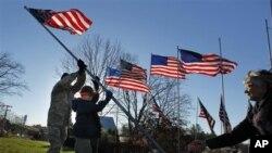 Воен ветеран пешачи низ САД