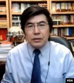 纽约城市大学政治学教授夏明博士。(美国之音资料照)