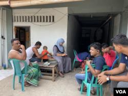 Pengungsi etnis Muslim-Rohingya di kamp pengungsian di Kota Medan, Sumatera Utara, Selasa 22 Juni 2021. (Anugrah Andriansyah)