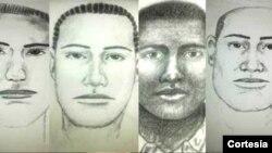 Retratos hablados del sospechoso de poner la bomba en el atentado contra el exministro Fernando Londoño. [Policía de Colombia]
