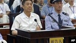 薄熙来在济南中院的法庭上