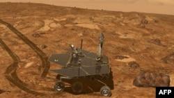Марсоход Opportunity на поверхности Красной планеты