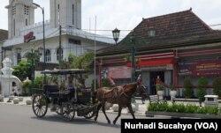 Andong wisata tanpa penumpang di Yogyakarta, 21 Maret 2020. (Foto: Nurhadi Sucahyo)
