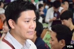 香港民航機機師、公民黨成員譚文豪。(美國之音湯惠芸攝)