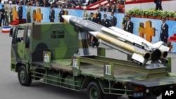 台军雄风三型反舰导弹(资料图片)