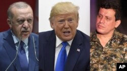 Gen. mazloum abdi, President Trump and Erdogan