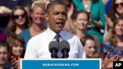 Presiden AS Barack Obama dalam sebuah kampanye pemilihan presiden di Colorado. (Foto: Dok)