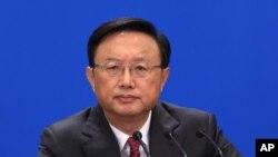 2013年3月9日中国外交部长杨洁篪是在人民大会堂的记者会上
