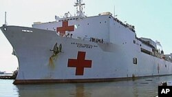 US Navy Hospital Ship 'Comfort' returns to its homeport in Baltimore