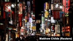 FILE - Nightlife district of Kabukicho, Tokyo, Japan, October 23, 2019. (REUTERS/Matthew Childs/File Photo)