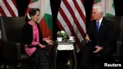 Pence meets Suu Kyi 20181114