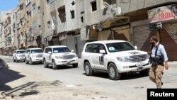 Пригород Дамаска. Сирия. 28 августа 2013 г.