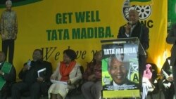 South Africans in Johannesburg Pray for Mandela