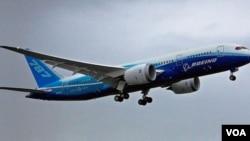 Boeing 787 Dreamliner, serial jet terbaru produksi perusahaan Boeing.
