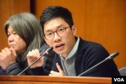 香港立法會議員羅冠聰。(美國之音湯惠芸)