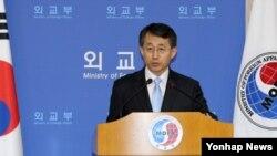 조태영 한국 외교부 대변인이 24일 외교부에서 한ㆍ미 원자력협정 제6차 수석대표 협상결과를 발표하고 있다.
