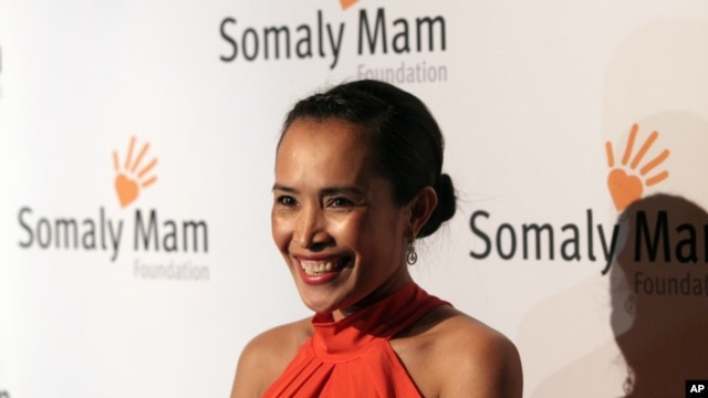 Author and human rights advocate Somaly Mam attends the Somaly Mam Foundation Gala on Wednesday, Oct. 23, 2013 in New York. (Photo by Andy Kropa/Invision/AP)