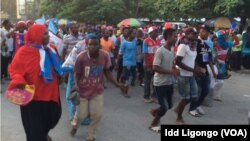 Mashabiki wa chama cha CUF waandamana mjini Unguja, Zanzibar