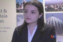 """Nərmin Rəhimlinin """"Qadınlara qarşı zorakılığa yox"""" videosunun detalları barədə müsahibəsi"""