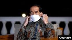Presiden Jokowi di Istana Merdeka, Jakarta, Jumat, 26 Maret 2021. (Biro Setpres)