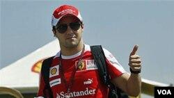 Salah seorang pembalap F1 dari Tim Ferari, Felipe Massa (foto: dok).