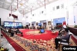 Rapat Pengendalian Karhutla 2021, di Istana Negara , Jakarta, Senin, 22 Februari 2021 (Foto: Biro Setpres)
