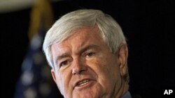 Leading Republican presidential contender and former House of Representatives Speaker Newt Gingrich (file photo)