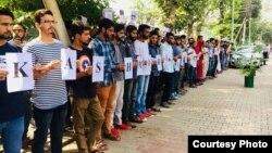 علی گڑھ مسلم یونیورسٹی، طلبہ کا احتجاج