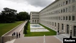 스위스 제네바의 세계무역기구, WTO 본부.