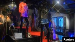 "The ""Hard Rock Couture"" exhibition runs at Ripley's Believe It or Not! museum in central London, Feb. 3, 2015."