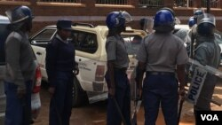 Members of the Zimbabwe Republic Police.