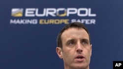 Director of Europol Rob Wainwright during a news conference in The Hague March 16, 2011 (file photo)
