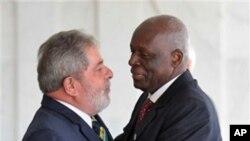 Lula da Silva e Eduardo dos Santos