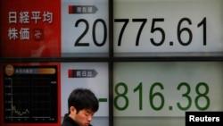東京日經指數2018年3月23日大幅度下挫(路透社)