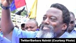 L'ancien président Joseph Kabila à Kolwezi, Lualaba, le 12 décembre 2020 (Twitter / Barbara Nzimbi)
