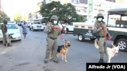 Polícia de Moçambique dispersou estudantes da Universidade Eduardo Mondlane que protestavam, na Praça da Independência, contra as regalias para os agentes e funcionários parlamentares