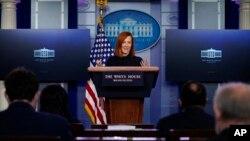 Джен Псакі на прес-конференції в Білому домі, 22-го січня