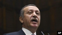 Turkey's Prime Minister Recep Tayyip Erdogan addresses lawmakers in Ankara, Nov. 15, 2011