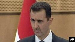 대국민 연설을 하는 아사드 대통령