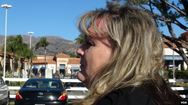 Paula Cracium, President of the Porter Ranch Neighborhood Council (M. O'Sullivan/VOA News)
