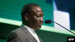 Sylvestre Ilunga Ilunkamba, Premier ministre de la RDC, au Cap, Afrique du Sud, le 3 février 2020.